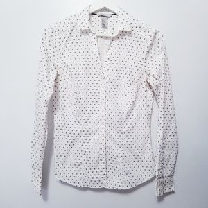 H&M White Buttondown Long sleeves Shirt sz 6 -L4